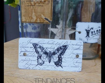 Label medium Metal butterflies n 1 11 X 5, 5 Cm