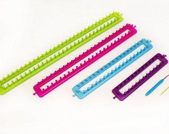 lot 4 rectangular Tricotins (length + - 25,35,45,55cm) or machine for elastic bracelets, or to make hat, scarves, ect...