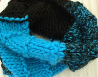 Snood blue and black - blue and black