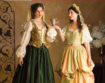 BEAUTIFUL RENAISSANCE GOWN Pattern by Simplicity 3809