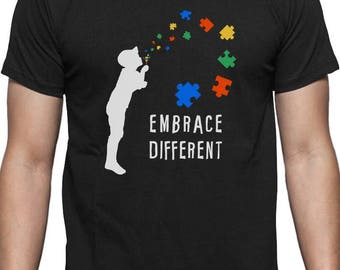Embrace Different - Autism Awareness T-Shirt