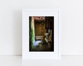 Derelict Bathroom - Urban Exploration - Fine Art Photography Print