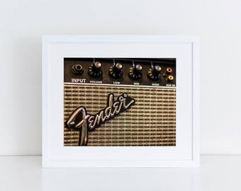 Fender Guitar Amp - Music - Fine Art Photography Print