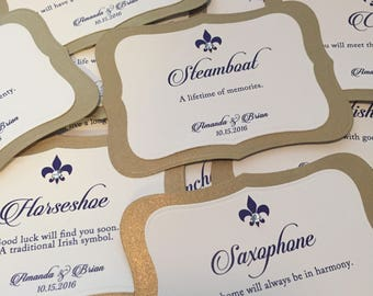 Wedding Cake Pull Charms Cards // Louisiana Cake Pulls // Personalized