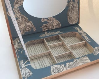 Gift for Bookworm. Under The Lilacs. Louisa May Alcott. Hollow Book Jewelry Box