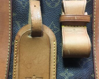 Authentic Louis Vuitton Luggage Tag And Strap Buckle.