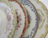 Vintage Mismatched China Dessert Plates, Bread Plates for Farmhouse, Cottage Chic, Rustic,Tea Party, Bridal Luncheon,Tea Plate -Set of 4