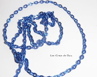 1 x dark blue metal mesh chain 64cm
