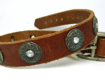 Celtic leather collar  *SALE*