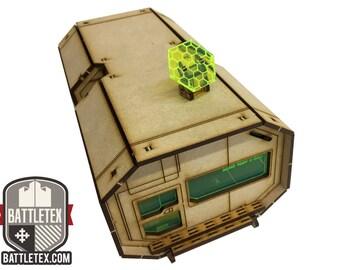 Hexen Unit 2 (Long) - Futuristic Space Building Necromunda Warhammer 40k Wargaming Building Scenery Modular Stackable 28mm