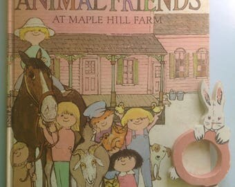 Our Animal Friends at Maple Hill Farm, Alice Martin Provensen, Large Hardcover, First Ed Color Illustrations, Scarce Title, Read Aloud Gift