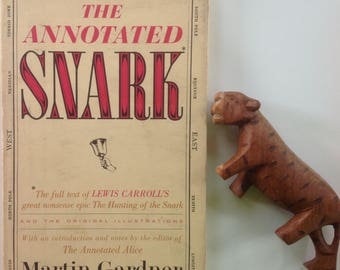 The Annotated Snark, Lewis Carroll, The Hunting of the Snark, HCDJ, Original Illustrations, Henry Holiday, 1962 First Edition, HTF Title