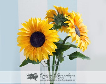 Sunflower - Polymer Clay Flowers