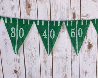 Football Game Day Banner, Football Burlap Banner, Tailgating Decoration, Sports Themed Banner, Sunday Football Banner, Gifts for Men Boys