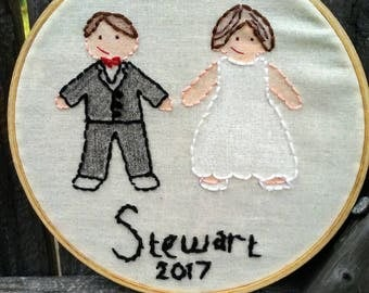 Wedding/Anniversary Hand Embroidery wall hanging