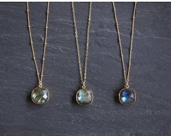 Mid Summer SALE Labradorite  // Labradorite Necklace // Gold Labradorite  //  Labradorite Jewelry // Labradorite bezel