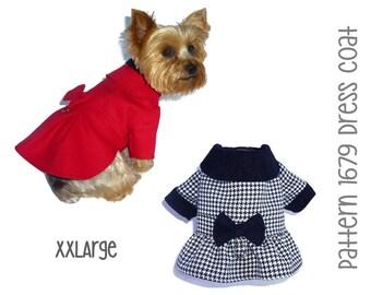 Dress Dog Coat Pattern 1679 * XXLarge * Pet Clothes Pattern * Winter Dog Coat * Dog Jacket * Warm Dog Coat * Little Dog Coat * Pet Coat