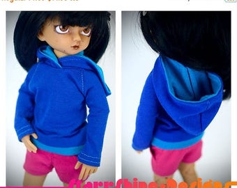 Thank You Sale 25% Off BJD yoSD 1/6 Doll Clothing - Design Your Own Pullover Hoodie - 20 Colors