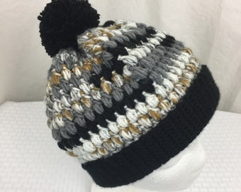 Crochet Slouch Beanie, Baby, Child, Adult Size Slouch Beanie- Hat, Ski, winter hat, Eagle Gold