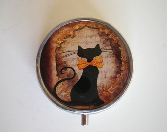 Pill box, Pill case, Cat pill box, Pill container, Cat box, Jewelry box, Mint case, Box, Pills, Cat