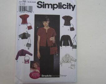 Simplicity 9016 Misses' Fashion Trims Jacket, Purses, Knit Jacket Uncut Sewing Pattern Sizes 14, 16, 18, 20, Simplicity 9016 uncut pattern