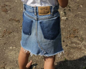 Adorable Vintage Kid's Denim Jean Cut Off Skirt 'Jordache' 4