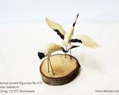 Bonsai Accent Figurines Red Cranes No 475
