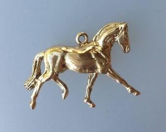 Dressage  Horse pendant bronze equestrian pendant DIY equine jewelry Zimmer.