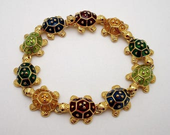 KJL Multi Color Turtle Bracelet - S1893
