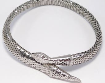 Vintage Mesh Whiting And Davis Snake Necklace