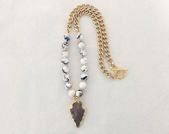 LIMITED EDITION- Arrow Beaded Necklace
