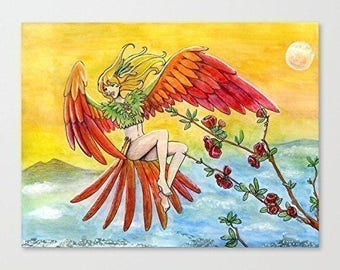 """Drawing / illustration """"Exotic bird"""""""