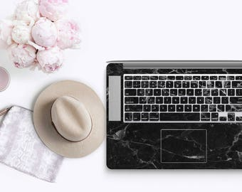 Marble Black and White Veins - KeyCal Skin Decal & Ultra Thin Keyboard Protector for MacBook Pro Retina , Macbook Air , Macbook Pro 2016