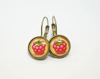 Earrings raspberry