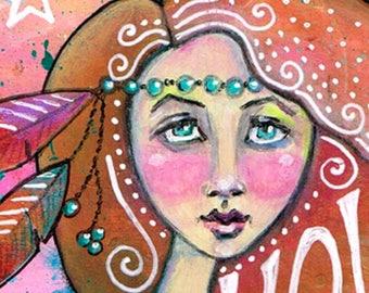 8x10 -Free Spirit Boho Art Print