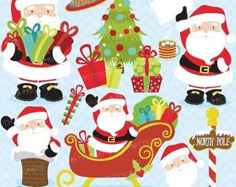 80% OFF SALE 80 Percent 0FF Sale Christmas clipart commercial use,Santa Claus vector graphics, digital clip art, digital images  - Cl607