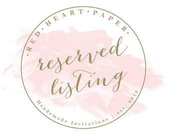 Reserved Listing - ASHLEY