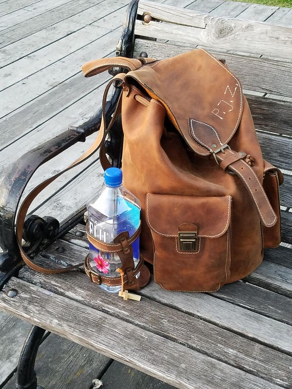 Large Backpack 50cm / 31cm/ 20cm Leather Backpack, BackPack,School BackPack,school rucksack,Handmade Man BackPack,Overnight bag, weekender b