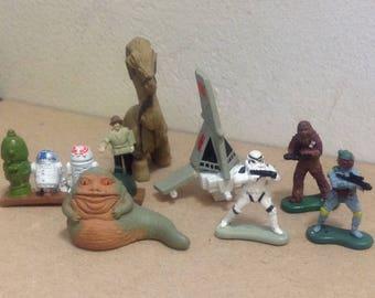 1997 Star Wars Micro Machines Figures miniatures vinyl Slave I Tatooine play set Jabba the Hutt Droids Ronto T-16 Sky Hopper Boba Fett