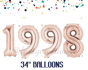 30th birthday for her | 1988 Banner Balloon ROSE GOLD | 30 Party | Thirsty Thirty | 30th Birthday Rose GOLD Balloon Banner | Dirty Thirty