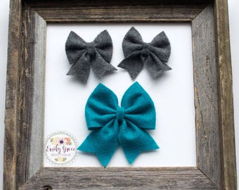 Felt Bow with Tails