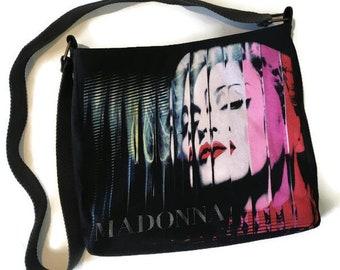 Madonna Bag • Upcycled Tshirt Purse • Crossbody Bag • Madonna Tshirt Bag • Madonna Gift