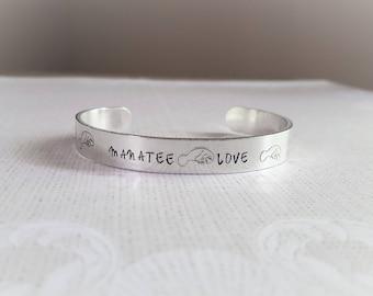 Manatee Love Cuff Bracelet