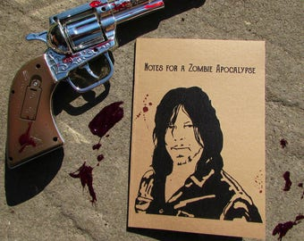 Daryl Dixon from The Walking Dead Notes for a Zombie Apocalypse Notebook Recycled Notepad