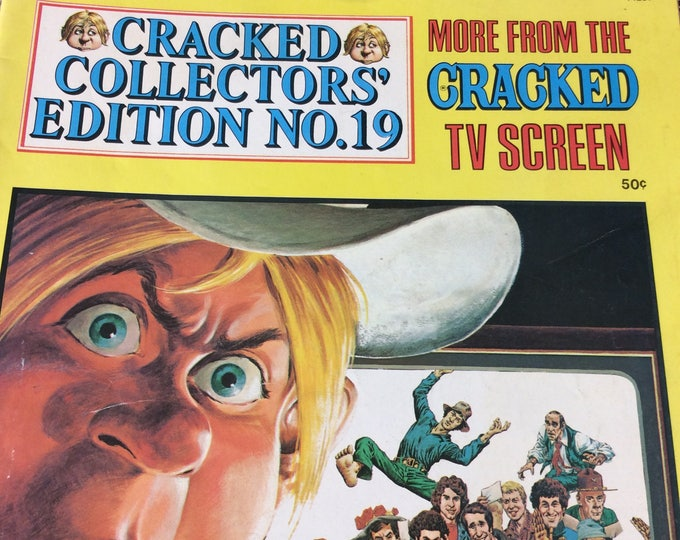Cracked Collectors edition no 19 from 1977, more from the cracked tv screen, vintage comics, comic collector gift, cracked comics