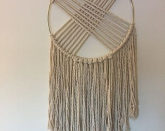 Criss cross wall hanging