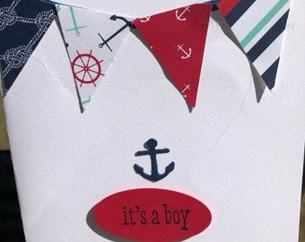 Little Sailor New Baby Card
