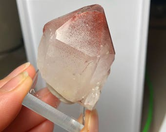 Natural Quartz with Hematite Inclusion Phantoms NW Province Zambia Q0149