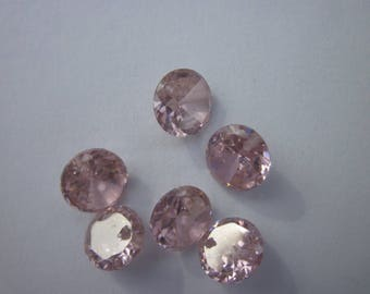 Crystal zirconium 8mm pink mix PV Z1 - 7 beads