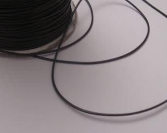 1 m cord thread brown color cotton for jewel 1 mm - (M)